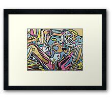 'Smoking Nude' Framed Print