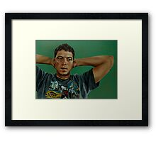 Day Portrait of a Young Man Framed Print