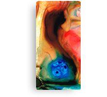 Dark Swan - Abstract Art By Sharon Cummings Canvas Print