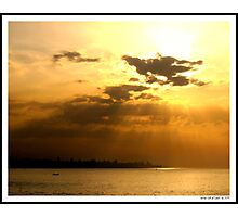 Sunset over Beirut! Photographic Print