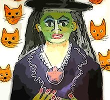 Witch With Cat Heads by Kater