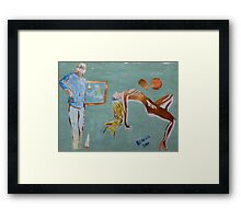 'Pose for a Painting' Framed Print