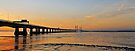 Second Severn crossing at Sunset, Bristol, UK by buttonpresser