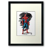 spiderman design t-shirt Framed Print