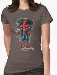 spiderman design t-shirt Womens Fitted T-Shirt