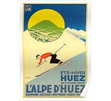 Ski France Alps D'Heuz 1 Poster