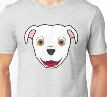 White Pitbull Face Unisex T-Shirt