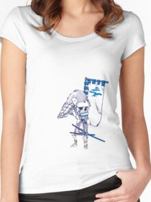 Samurai Voodoo Warrior Women's Fitted Scoop T-Shirt