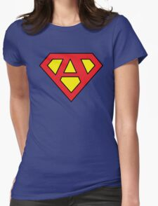 """A"" Superhero Emblem Womens Fitted T-Shirt"