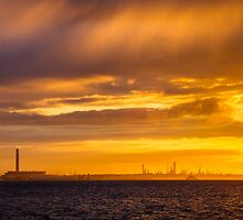 An Industrial Sunset by Heidi Stewart