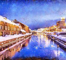 Winter in Otaru  by Patricia  Soon