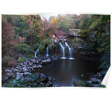 Fall Water Fall Poster