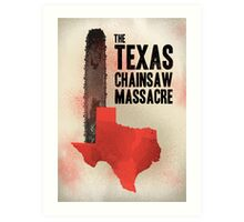 The Texas chainsaw massacre Art Print