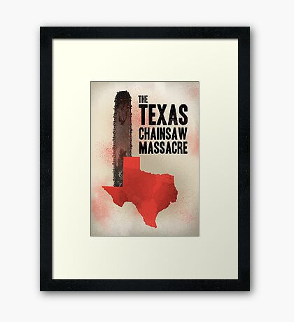 The Texas chainsaw massacre Framed Print