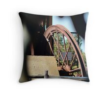 Poppet Head Ground Pulley Throw Pillow
