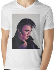 The King Elvis Presley by Suzanne Marie Leclair Mens V-Neck T-Shirt