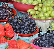 Grapes and Strawberries by Victor Barrera