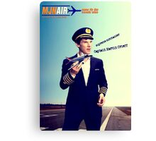 Captain Crieff and Toy Plane Canvas Print