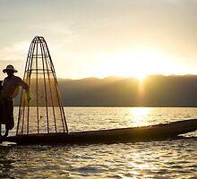 inle fisherman by Mikka