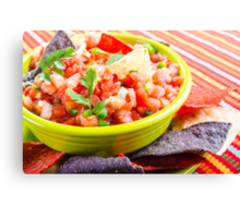 Salsa and Chips Canvas Print