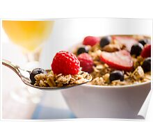 Granola and Fruit Breakfast Poster