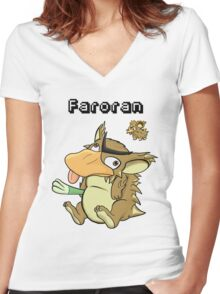Pokefusion - Faroran Women's Fitted V-Neck T-Shirt