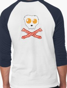 Bacon & Eggs Skull Men's Baseball ¾ T-Shirt