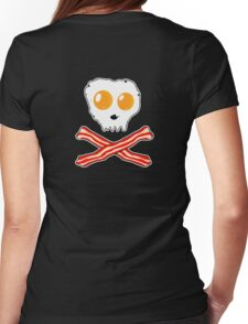Bacon & Eggs Skull Womens Fitted T-Shirt
