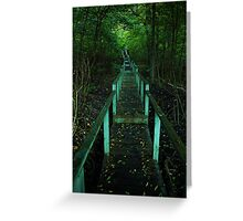 Crothers Woods Staricase Greeting Card