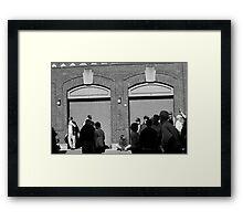 Fenway Park - Fans and Locked Gate Framed Print