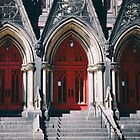 Red Church Doors by comeinalone