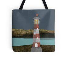 Nighttime Lighthouse Tote Bag