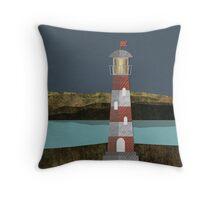 Nighttime Lighthouse Throw Pillow