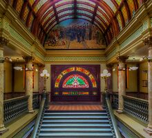Montana State Capitol Grand Staircase by Sue Morgan