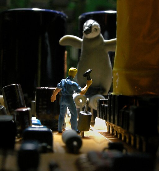 Infestation- penguin by Mark Crummett