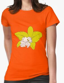 green orchids on brown background T-Shirt