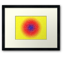 Yellow through the net Framed Print