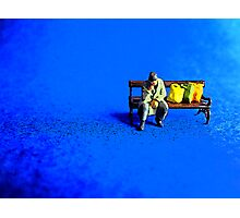 Lonely on a park bench! Photographic Print