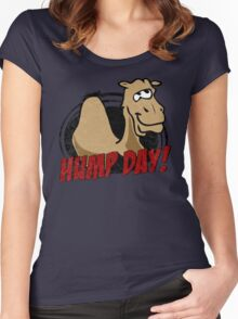 Hump Day Camel - HUMP DAY! - Wednesday is Hump Day - Parody Camel Women's Fitted Scoop T-Shirt
