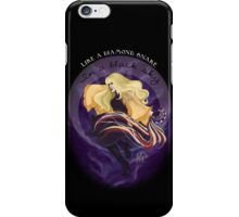 Like a diamond snake in a black sky iPhone Case/Skin