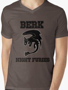 Berk Night Furies Mens V-Neck T-Shirt