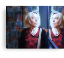 Woman In The Mirror Canvas Print