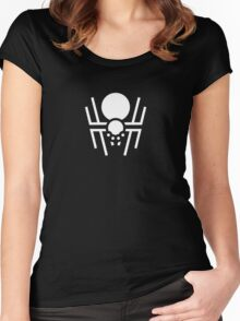 Halloween Spider Symbol Ideology Women's Fitted Scoop T-Shirt