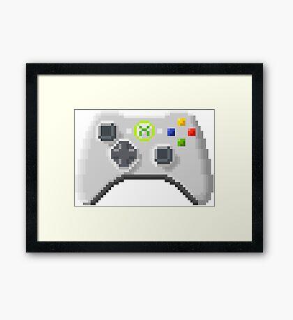 8Bit Xbox Controller Framed Print