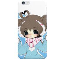 Kawaii Girl in the Snow iPhone Case/Skin