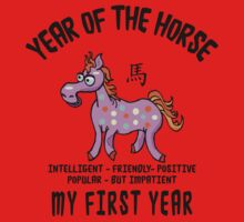 Born Year of The Horse Baby Kids Tee