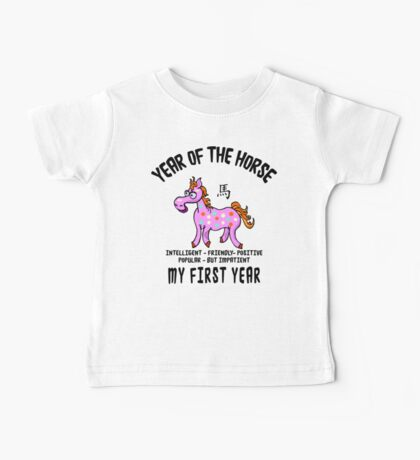 Born Year of The Horse Baby Baby Tee