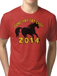 Happy Chinese New Year 2014 Tri-blend T-Shirt