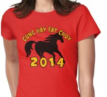 Happy Chinese New Year 2014 Womens Fitted T-Shirt