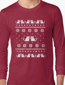 Cat Sweatshirt -Ugly Christmas Sweater- Meowy Ugly Sweatshirt T-Shirt